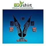 Ecoshirt H2-U58T-C52L Pegatinas Stickers Fork Rock Shox SID WC World Cup 2017 Am174 Aufkleber Decals Autocollants Adesivi Forcela, Negro