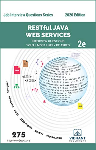 RESTful Java Web Services Interview Questions You'll Most Likely Be Asked: Second Edition (Job Interview Questions Series Book 32)