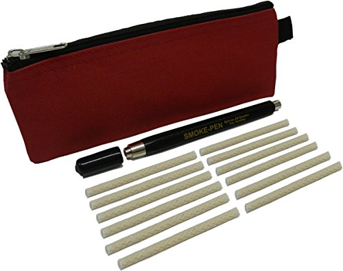MeterMall S220-KIT-B Regin Smoke Pen with 6 Wicks, Regin S221 Refill Wicks (6) and Carry Case. Dense, White Smoke Trail for Finding drafts and air leaks.