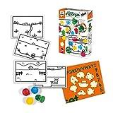 Diset- Pinta con Esponjas Juego Educativo para Niños, Multicolor (68959)