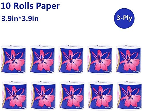 XINGJU Toiletpapier zijdezacht Soft 3-Ply Toilet Paper Badkamer Keuken Toilet Tissue Paper Soft Professional toiletpapier papieren handdoeken Afbreekbare Roll Paper for Family Workshop Restaurant