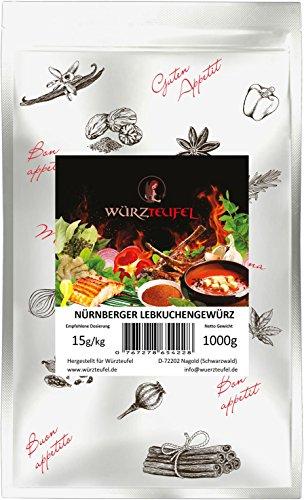Lebkuchengewürz, Lebkuchen - Gewürzmischung Nürnberger Art. Beutel 1000g. (1KG)