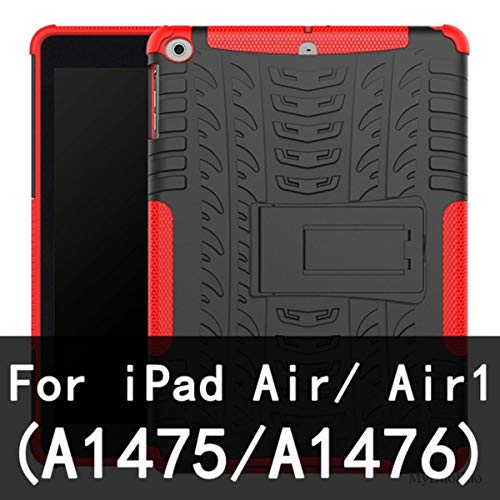 Cover for iPad Air Air 2 TPU+PC Stand Bracket Case Cover for iPad 2017 9.7' 2018 5/6th Tablet Shockproof Armor Anti-Knock Shell,Air red
