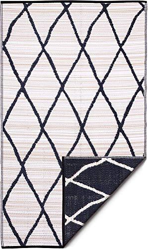 FAB HAB Nairobi - Natural & Black Alfombra/tapete para Interiores y Exteriores (180 cm x 270 cm)