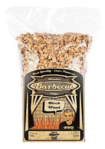 Axtschlag Räucherchips Birke, 1000 Gramm sortenreine Räucherspäne für besondere Rauch- und Geschmackserlebnisse, für alle Grills