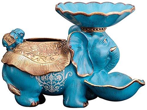 TAIDENG Caja de pañuelos para decoración de elefantes, como madre americana y adornos auspiciosos, bandeja de frutas secas, cenicero, papel de bombeo, decoración del hogar, 34,5 x 21 x 23,5 cm