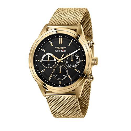 Sector No Limits Reloj Hombre, Colección 670, Multifunción, en Acero, PVD Oro - R3253540001