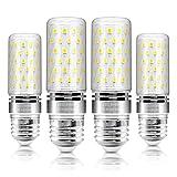 E26 LED Corn Bulb 16W Dimmable LED Candelabra Light Bulbs 1500LM 3 Color Changing (3000K/4000K/5000K) , 120W Equivalent, LED Chandelier Bulbs, Decorative Candle Base Workshop LED Lamp (4-Pack)