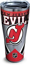 Tervis 1283490 NHL New Jersey Devils Ice Stainless Steel Insulated Tumbler with Clear and Black Hammer Lid, 30oz, Silver