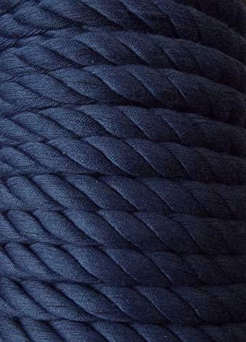 3 m Baumwollkordel 10 mm dunkel blau