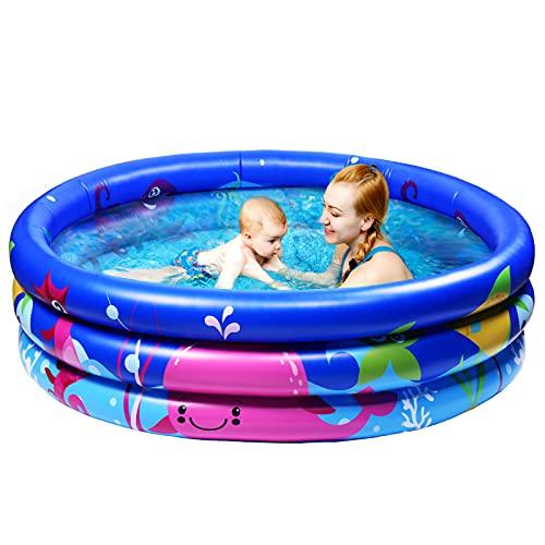 Joyjoz Familie Pool, Kinderpool für Schwimmen Spielen Schlafen, Kinder Aufstellpool Planschbecken Aufblasbare Pool, Aufblasbare...