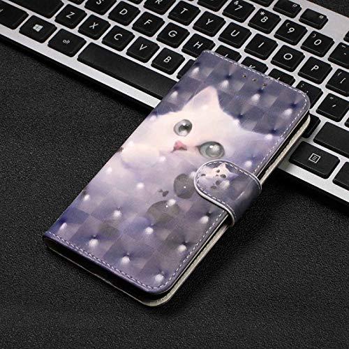 JYMD AYDD Pintura visual de AYDD Funda de cuero a la izquierda y derecha para Huawei Disfrute de 8E / 7A / 7A PRO / Y6 Prime 2018, con soporte y ranura para tarjetas y brazalete ( Color : Lovely cat )