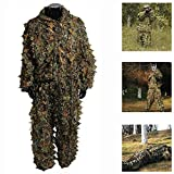 3A Technology Co Hunting Clothes New 3D Maple Leaf Bionic Ghillie Suits Yowie Sniper birdwatch Airsoft Camouflage Clothing Jacket and Pants Men Women