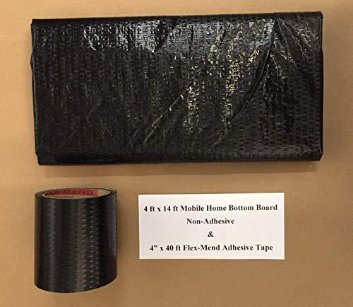 Mobile Home RV Flex Mend Belly Bottom Repair Kit-Fix Holes & Rips 48' x 14'