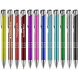 25 Stück Metall Kugelschreiber KING farbig gemischt mit Gravur Lasergravur alle gleiche Gravur