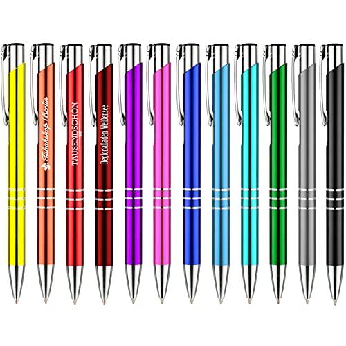 25 Stück Metall Kugelschreiber KING blau mit Lasergravur Gravur alle mit gleicher Gravur