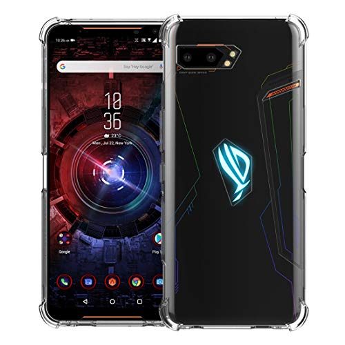 CRESEE ROG Phone 2 Hülle Hülle, [Verstärkte Ecken] Schutzhülle Soft Silikon Cover Bumper Stoßfest Handyhülle Fall für ASUS ROG Phone II (ZS660KL) 2019 Gaming Phone (Transparent)