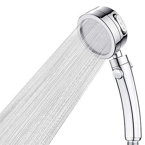 Ducha de lluvia El cabezal de ducha de modo ajustable de 3 electrodomésticos con parada en el interruptor de la ducha de alta presión del cabezal de ducha de alta presión Alto flujo de ahorro de agua