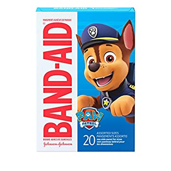 Band-Aid Brand Adhesive Bandages for Minor Cuts & Scrapes Wound Care Featuring Nickelodeon Paw Patrol Characters for Kids and Toddlers Assorted Sizes 20 ct