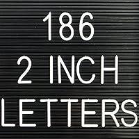 186–2インチLettersの手紙プラスチックボードと互換性–これらの文字はないフェルトレターボード(Includes文字と記号のみ)