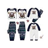 Pokonl Conjunto De Pijamas Familiares De Navidad, Ropa A Juego para La Familia, Ropa De Fiesta, Pijamas para Niños Adultos, Ropa De Dormir, Conjuntos De 2 Piezas-Mamá Azul
