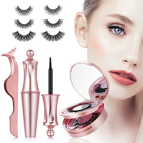 3D magnetische Wimpern mit Eyeliner, magnet Wimpern, künstliche falsche Wimpern,magnetic Eyelashes...