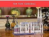GQQ Tridimensional Puzzle,Manual DIY Modelo De Papel Edificio Creativo Decoración Regalo,Newyorkcathedral