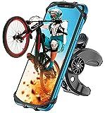Cocoda Soporte Móvil Bicicleta, Soporte Movil Moto, Rotación 360° Ajustable Universal Montaje para Manillar de Bicicleta Compatible con iPhone 12 Pro/12 Mini/iPhone 11 Pro Max, Samsung- 4.7'' - 6.8''