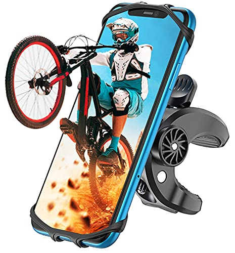 Cocoda Soporte Móvil Bicicleta, Soporte Movil Moto, Rotación 360° Ajustable Universal Montaje para Manillar de Bicicleta Compatible con iPhone 12 Pro/12 Mini/iPhone 11 Pro MAX, Samsung- 4.7