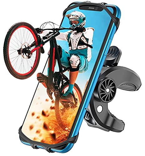 Cocoda Porta Cellulare da Bici, Porta Cellulare Moto a 360° Regolabile, Silicone Supporto Cellulare Moto Anti Vibrazione Compatibile con iPhone 12 Pro/11 Pro Max, Samsung, Altro 4.7''-6.5'' Smartphone