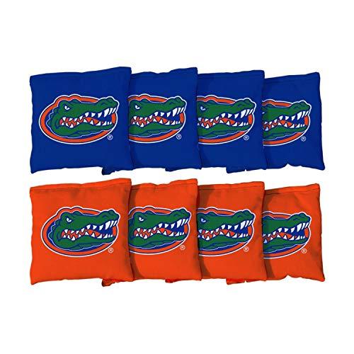 Victory Tailgate NCAA Collegiate Regulation Cornhole Game Bag Set (8 Bags Included, Corn-Filled) - Florida Gators