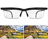 Adjustable Focus Glasses -4.5D to 3D Diopters Magnifying Reading Glasses for Dial Vision Near and Far Sight