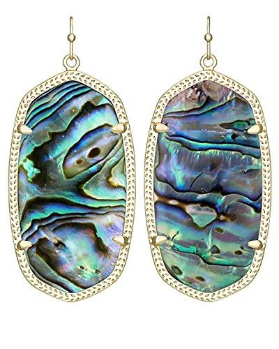 Kendra Scott Women's Danielle Earrings Abalone Shell Earring