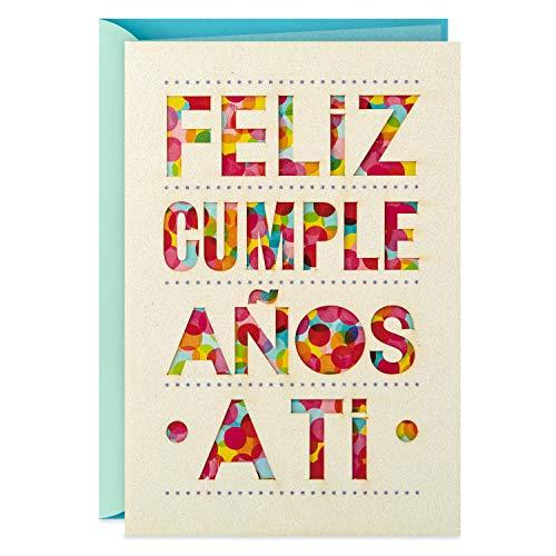 Hallmark Vida 599RZM1006 spanische Geburtstagskarte, Tarjeta de Cumpleaños Española (Feliz Cumpleaños)