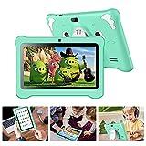 Tablet para Niños 7 Pulgadas, Tablet Infantil con ROM de 32GB Ampliable hasta 128GB, Tablet Niño Processore Quad-Core con WiFi, Android 9.0, RAM de 2GB Entertainment Educativo Doble Cámara (Verde)