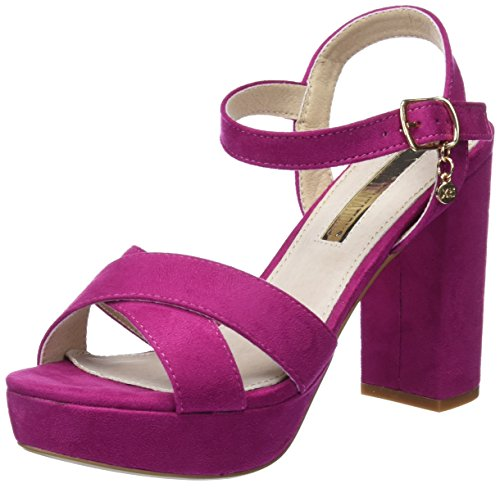 XTI 30751, Zapatos con Tacon y Correa de Tobillo para Mujer, Rosa (Fucsia), 39 EU