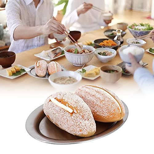 Tallrik i rostfritt stål, används ofta Lätt att använda Utsökt och praktisk matplatta Lätt att förvara till middag för fest