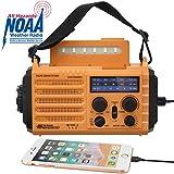 Emergency Solar Hand Crank Portable Weather Radio, NOAA Weather Alert Radio for Household