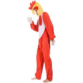 Gallo Rojo Disfraces de Animales Adultos Unisex Pijamas Traje de ...