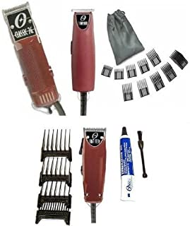 Oster Classic 76 Hair Clipper with Fast Feed and T-Finisher with a 10 Piece Comb Set Ultimate Complete Package. Made in USA.