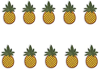 Yalulu 10PCs Pineapple Cactus Embroidered Repair Patches Iron On Sew-on Cloth Paste DIY Applique Craft Kids Clothing Hat Bag Decor (Pineapple)
