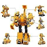 BST-MAI Transformers Transformers - Juguete transformador 5 en 1 para coche, juego de herramientas para grúas de vehículos, juego de deformación para niños, regalo de cumpleaños de Navidad