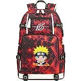 ZZGOO-LL Uzumaki Naruto/Sharingan USB Mochila con para Mujer, Mochila de Viaje Suave Mochila para Escuela Mochilas para niñas-B