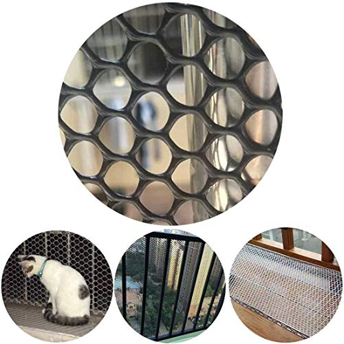 Children Kids Cat Anti-Fall Protection Net Stair Rail Balcony Banister Fence Safety Net Plastic Fencing Poultry Breeding Netting Chicken Net and Garden Netting (Color : Black, Size : 1.5x9m)