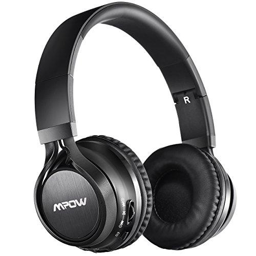 Mpow Audífonos Bluetooth Diadema Plegable ,Auriculares Inalámbricos Bluetooth con Micrófono y Cable de Audio, Auriculares Wireless Over-Ear Headphones para Xiaomi/Huawei/Iphone