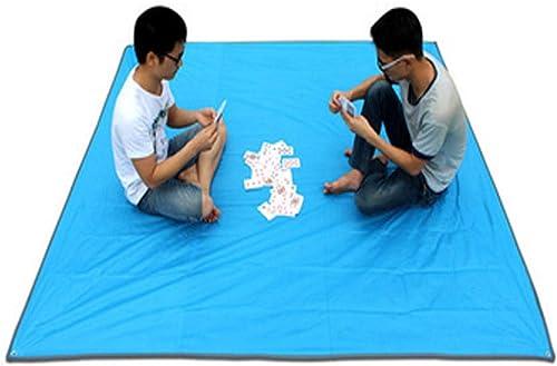 Chenjinxiang01 Tapis de Camping, Tapis de Plage imperméable extérieur, Tapis de Pique-Nique, Tissu Oxford, 200  150 cm, adapté au Voyage en Plein air, MultiCouleure en Option Délicate