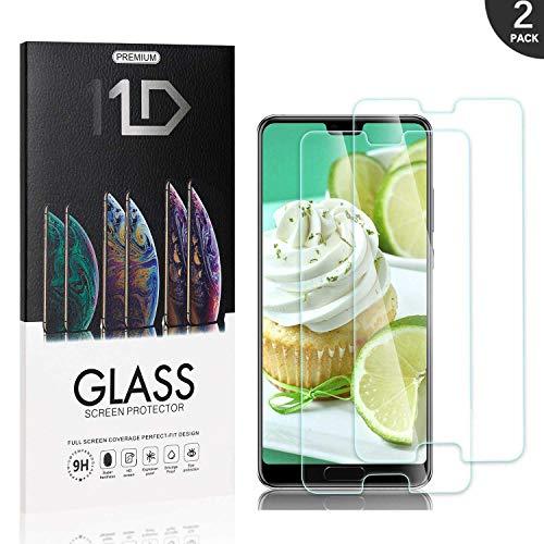 2 Pièces Huawei P20 Verre Trempé, LAFCH Film Protection d'écran, Écran Protecteur Vitre pour Huawei P20, Dureté 9H, sans Bulles,