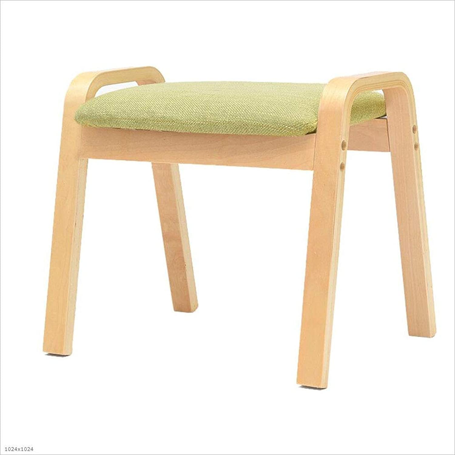 Home Stool Replacement shoes Stool Fashion Living Room Stool Sofa Foot Stool Solid Wood Stool,C