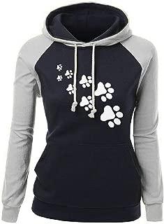 Cat Footprint Printing Pattern Autumn Winter Thick Sweatshirts Women Kawaii Tops Femmes Female Plus Size Women Clothing Gift