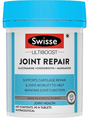 Swisse Ultiboost Joint Repair Supplement with Glucosamine, Chondroitin & Manganese for Joint Mobility and Function – 90 Tablets